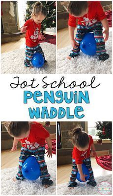 School: Penguins Get moving with the penguin waddle, perfect for tot school, preschool, or kindergarten.Get Into It Get Into It may refer to: Music Mottoes and slogans Winter Activities For Kids, Toddler Activities, Preschool Physical Activities, Winter Preschool Themes, Polar Animals Preschool Crafts, Christmas Activities For Toddlers, Preschool Art Projects, Gross Motor Activities, Preschool Science