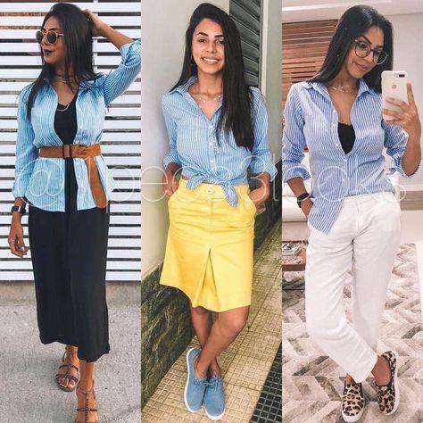 6ff64fa36 Clássica e indispensável para qualquer mulher de estilo, a camisa feminina  é um coringa que faz parte de qualquer guarda roupa que se…