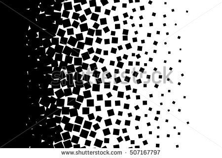 Abstract Background Isolated Black Elements On White Background