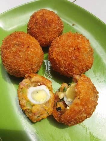 Resep Kroket Isi Telur Puyuh Oleh Dian Andhika Resep Telur Makanan Resep Makanan