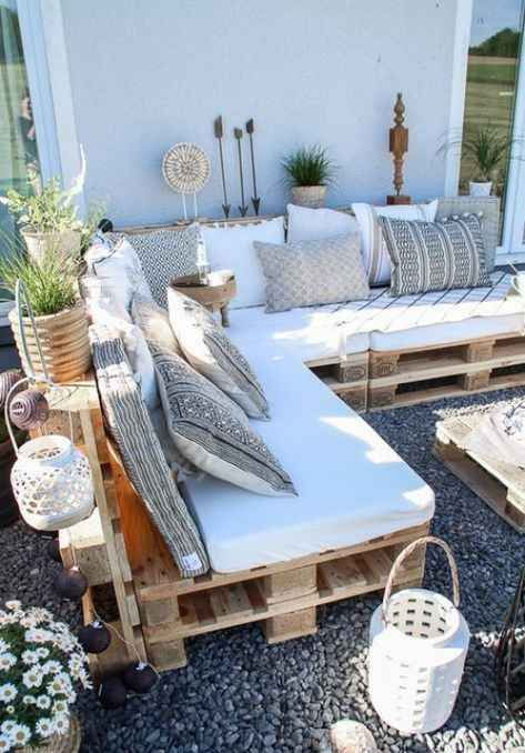 Decoration Exotique Pour Meubles De Jardin Palettes Backyarddecor