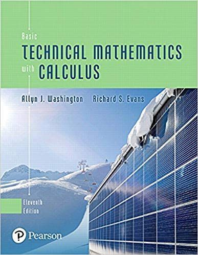 Basic Technical Mathematics with Calculus 11th Edition by