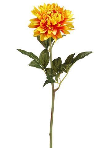 Orange Dahlia Artificial Flowers Silk Flowers Wedding Fall Flowers Flower Images