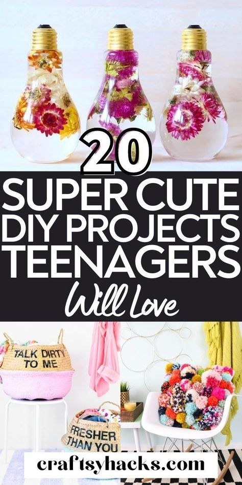 20 Cute DIY Projects For Teenagers - Craftsy Hacks