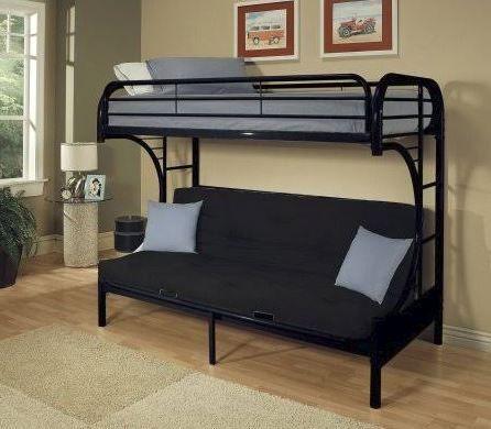 Eclipse Twin Xl Queen Futon Etagenbett In Schwarz Acme Mobel 02093bk Futon Bunk Bed Bunk Beds With Stairs Bunk Beds
