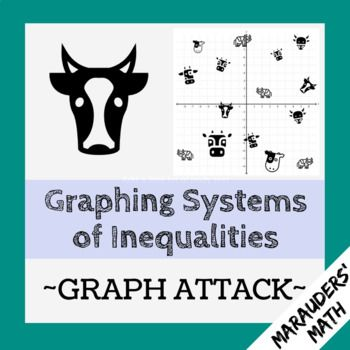 In This Activity Students Practice Graphing Systems Of Inequalities As They Trap A Herd Of Crazy Cows If Graphing Inequalities Free Math Activity Inequality