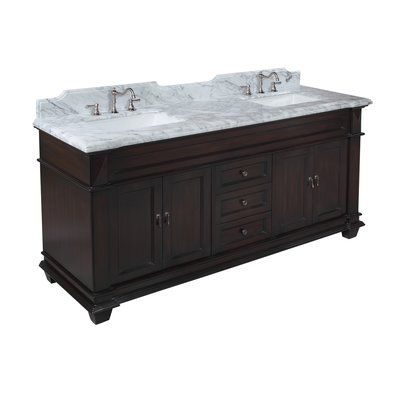 Kitchen Bath Collection Elizabeth 72 Double Bathroom Vanity Set