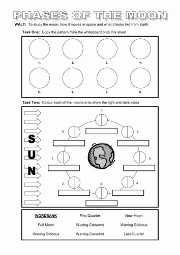 Moon Phases Worksheet Answers New Powerpoint And Worksheet On The Moon By Dazayling In 2020 Persuasive Writing Prompts Moon Phases Triangle Worksheet