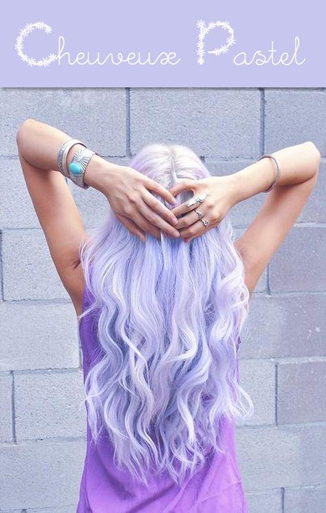 #cheveux #pastel violet
