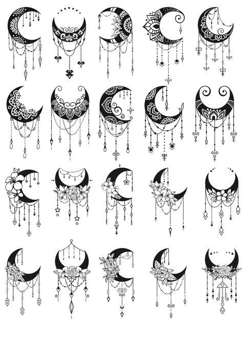 Moon Mandala, Mandala Art, Mandala Drawing, Mandala Tattoo, Mini Tattoos, Body Art Tattoos, Tatoos, Tattoo Und Piercing, Future Tattoos