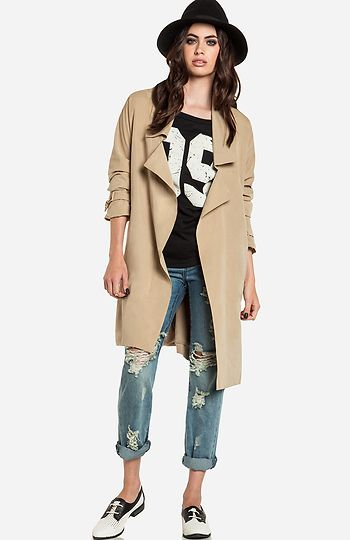 Trench Coat & Jeans