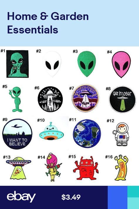 Pink Alien Iron On Patch Sew On Clothes Jacket Jeans Bag NASA Space UFO Badge