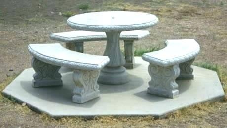 Stone Table Patio Furniture