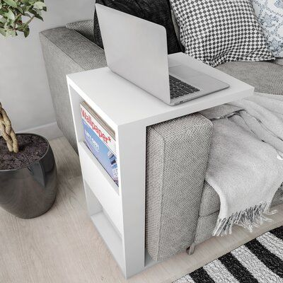 Chisdock Floor Shelf End Table with Storage - Chisdock Floor Shelf End Table with Storage Hashtag Home Chisdock End Table Space Saving Furniture, Home Furniture, Furniture Design, Smart Furniture, Multifunctional Furniture, Furniture For Small Spaces, Arm Rest Table, Sofa Arm Table, White End Tables