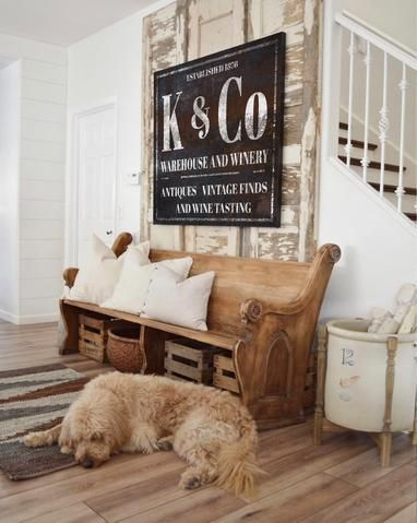 The Miller SIgn   Personalized Chippy Farmhouse Canvas Wall Art