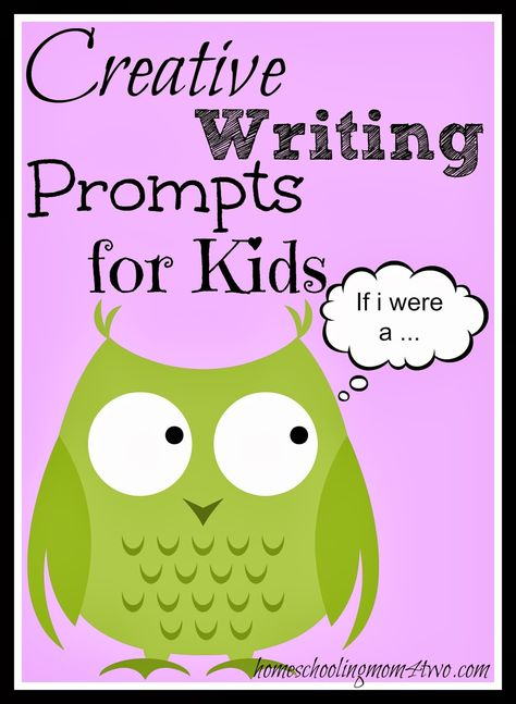 Creative Writing Prompts for Kids | Homeschooling Mom 4 Two...These actually look pretty fun for the kids.