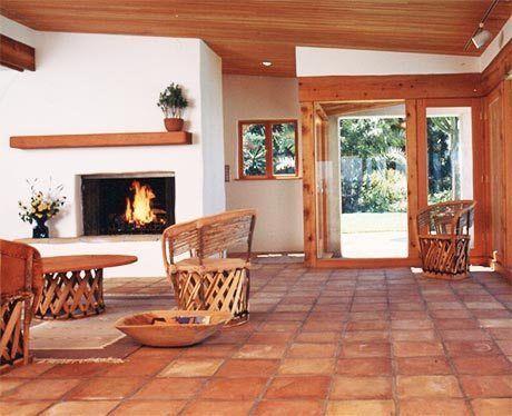 Keeping Up Saltillo Tile Floors Tile Floor Living Room Spanish Home Decor Saltillo Tile Floor