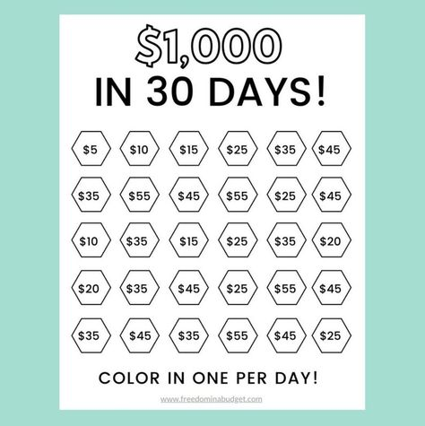 Savings Challenge, Money Saving Challenge, 52 Week Savings, 52 Week Challenge, Saving Money Chart, Money Saving Tips, Money Tips, Savings Planner, Money Planner