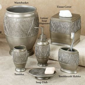 Casablanca Lotion Soap Dispenser Silver Bath Accessories Design Bath Accessories Moroccan Bathroom