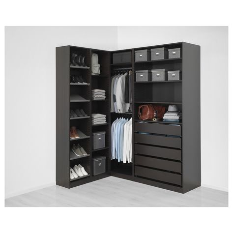 Armadi Angolari Ikea Pax.Pax Corner Wardrobe Black Brown In 2019 Products Pax Guardaroba