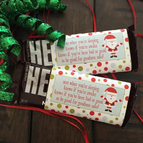 Christmas Candy Bar Wrapper. Fits Hershey's by LilacsAndCharcoal