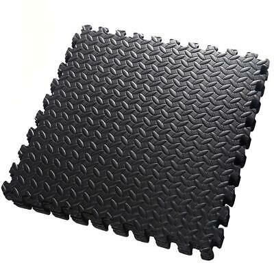 Ad Ebay 42 Pcs Exercise Mats Foam Eva Floor Interlocking Gym Garage Home Work Black Interlocking Mats Foam Flooring Gym Mats