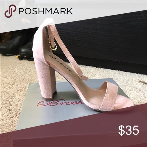 Blush heels Blush, thick heel Breckelles Shoes Heels