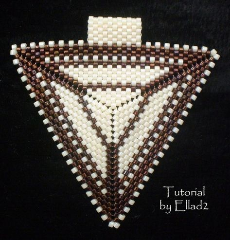 This tutorial shows you how to make Peyote Triangle Pendant, step by step with a 42 photos and 15 steps (10 pages). Its very detailed. Also, you will get