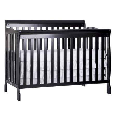 Dream On Me Ashton 5 In 1 Convertible Crib Black Best Baby Cribs Cheap Toddler Beds Convertible Toddler Bed