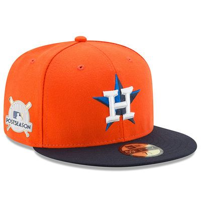 31e5bdb4 Men's New Era Orange Houston Astros 2017 Postseason Side Patch ...