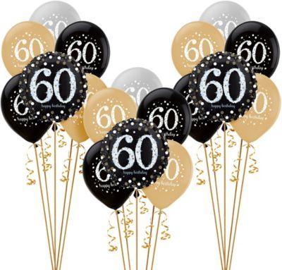 Shop For Sparkling Celebration 60th Birthday Balloon Kit And Other 60th Birthday Balloons On 50th Birthday Balloons Birthday Balloons 50th Birthday Decorations