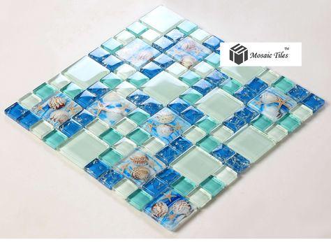 spiaggia-stile-mare-blu-piastrelle-di-vetro-madre-perla-di-resina-chip-verde-acqua-mosaici-in.jpg (790×577)