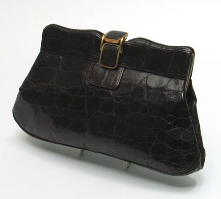 1930s crocodile handbag