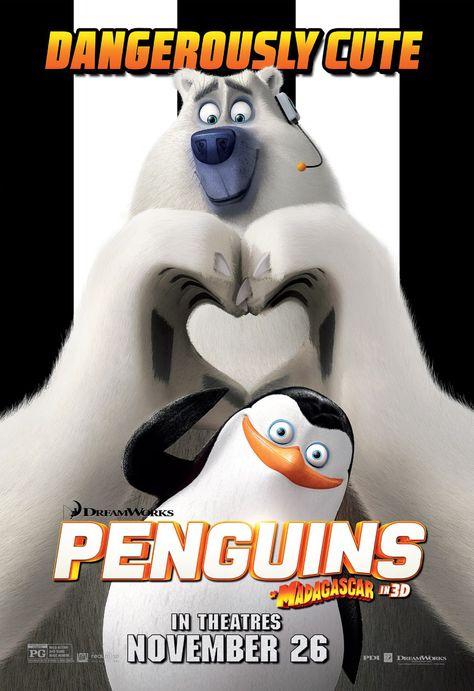 Les Pingouins De Madagascar Film : pingouins, madagascar, Pingouins, Madagascar, Affiche, Pinguïns,, Animatie