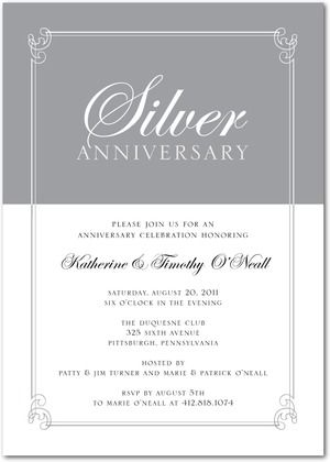 Party Invitations Extraordinary Elegance - Front  Charcoal Love - anniversary invitation