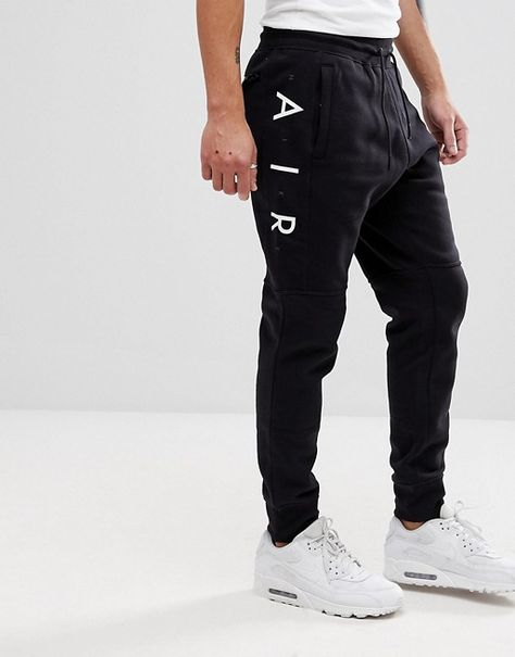 8c2eb29137193 Chándal ajustado en negro Air de Nike