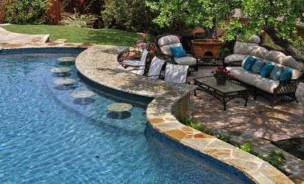 28 Ideas Backyard Pool House Ideas Swim Up Bar Outdoor Remodel Swimming Pool Designs Pool Houses