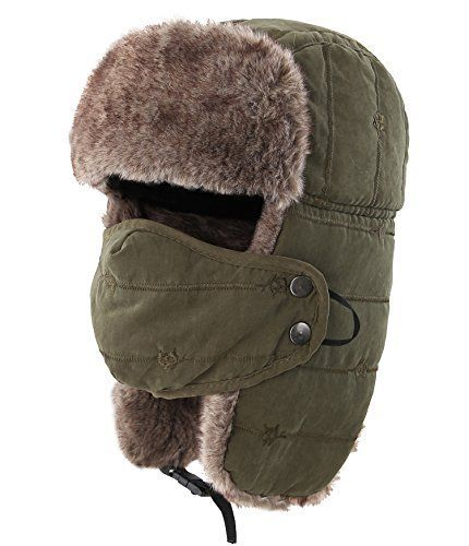 Great For Connectyle Warm Trapper Hat Windproof Winter Russian Hats With Mask Us Russian Hat Trapper Hats Ushanka Hat