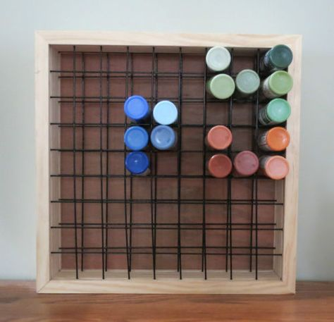 Paint Storage Rack Stand Holds 78 2oz Craft Paint Plastic Bottles New