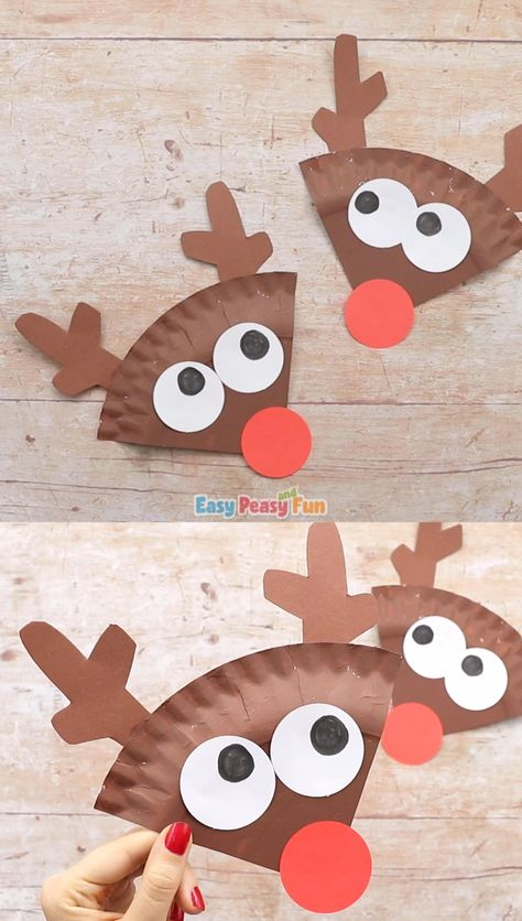 Have a few spare paper plates and need an easy Christmas craft idea? Make this cool paper plate reindeer craft.