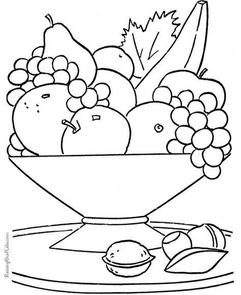 La Ensalada De Fruta Frutas Para Colorear Dibujos De