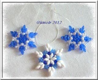 Girasole - Perlen: Schneeflöckchen