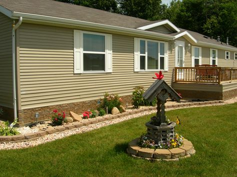 Mobile Home Landscaping Mobile Home Landscape Ideas Joy Garden Yard Patio Pinterest Remodeling Ideas House Remodeling And Patios