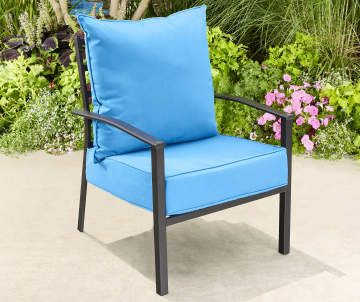 Terrific Patio Chair Cushions Deep Seat And High Back Styles Big Ocoug Best Dining Table And Chair Ideas Images Ocougorg