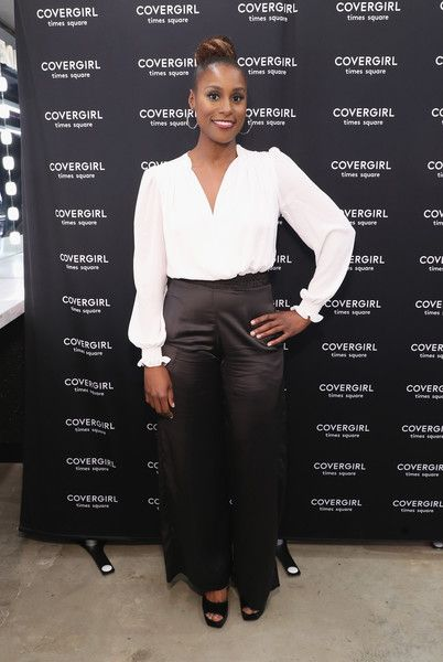 Issa Rae attends the Issa Rae Meet and Greet at the COVERGIRL store in Times Square NYC.