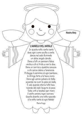 Poesie Di Natale Da Colorare.L Angelo Del Natale Cristmas Natale Bambini Di Natale E