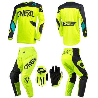 Oneal Element Neon Motocross Mx Dirt Bike Gear Jersey Pants Gloves Combo Set Ebay In 2020 Jersey Pants Dirt Bike Gear Bike Gear