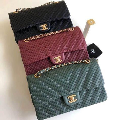 6390c86029bd Chanel Pleated Crumpled Calfskin Classic Flap Medium Bag 2018 | Chanel