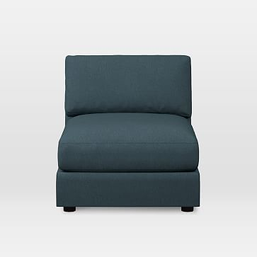 Urban Armless Chair Twill Teal & Urban Armless Chair Worn Velvet Olive Poly Fill | Products