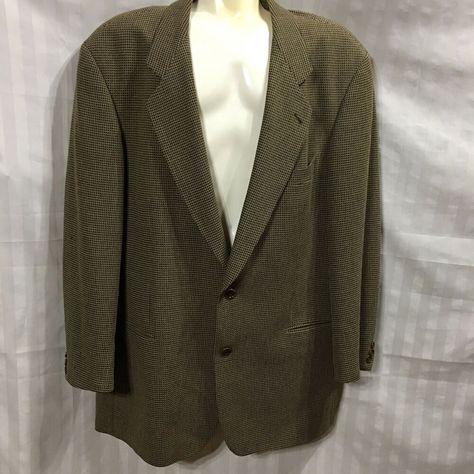 c78c6e6cb Hugo Boss Suit Coat 48L Pure Wool Galilei Made In USA Plaid Office Career # HUGOBOSS